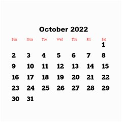 All Framed 2018 Large Numbers Calendar 8 5x6 By Deborah   Wall Calendar 8 5  X 6    Fu59vwnf8g8t   Www Artscow Com Oct 2018
