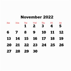 All Framed 2019 Large Numbers Calendar 8 5x6 By Deborah   Wall Calendar 8 5  X 6    Fu59vwnf8g8t   Www Artscow Com Nov 2019