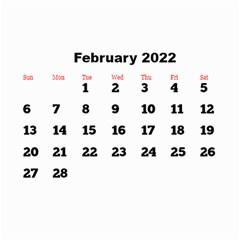 All Framed 2019 Large Numbers Calendar 8 5x6 By Deborah   Wall Calendar 8 5  X 6    Fu59vwnf8g8t   Www Artscow Com Feb 2019