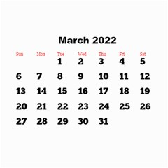 All Framed 2019 Large Numbers Calendar 8 5x6 By Deborah   Wall Calendar 8 5  X 6    Fu59vwnf8g8t   Www Artscow Com Mar 2019