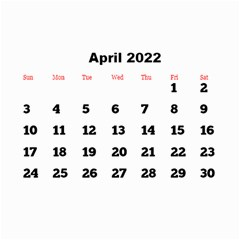 All Framed 2019 Large Numbers Calendar 8 5x6 By Deborah   Wall Calendar 8 5  X 6    Fu59vwnf8g8t   Www Artscow Com Apr 2019