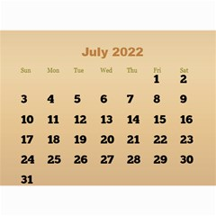 Male Calendar 2018 (large Numbers) 8 5x6 By Deborah   Wall Calendar 8 5  X 6    98of815gs3bp   Www Artscow Com Jul 2018