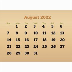 Male Calendar 2018 (large Numbers) 8 5x6 By Deborah   Wall Calendar 8 5  X 6    98of815gs3bp   Www Artscow Com Aug 2018