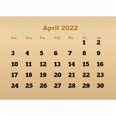 Male Calendar 2018 (large Numbers) 8 5x6 By Deborah   Wall Calendar 8 5  X 6    98of815gs3bp   Www Artscow Com Apr 2018
