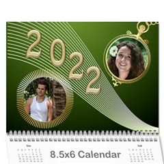 Styled In Green 2017 Calendar (large Numbers) Mini By Deborah   Wall Calendar 8 5  X 6    Sqwvu9m43v5f   Www Artscow Com Cover