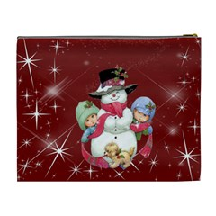 Christmas Collection Cosmetic Bag (xl) By Picklestar Scraps   Cosmetic Bag (xl)   Kl12nz6g5s5h   Www Artscow Com Back