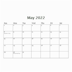 Showcase 2019 (any Year) Calendar 8 5x6 By Deborah   Wall Calendar 8 5  X 6    C1w82s112vma   Www Artscow Com May 2019