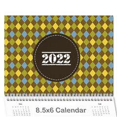 Mini Calendar For Guys By Jennyl   Wall Calendar 8 5  X 6    Jcynjk6v2wum   Www Artscow Com Cover