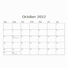 Mini Calendar For Guys By Jennyl   Wall Calendar 8 5  X 6    Jcynjk6v2wum   Www Artscow Com Oct 2019