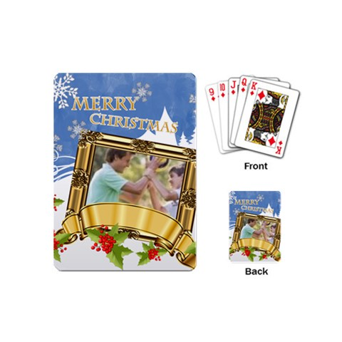 Christmas By Joely   Playing Cards Single Design (mini)   Ka5th0283hkd   Www Artscow Com Back