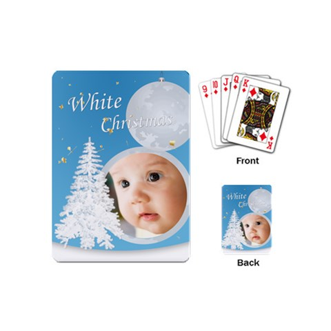 Christmas By Joely   Playing Cards (mini)   Erb5ktsz7p0g   Www Artscow Com Back