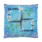 Blue Floral Double Sided Cushion Case  - Cushion Case (Two Sides)