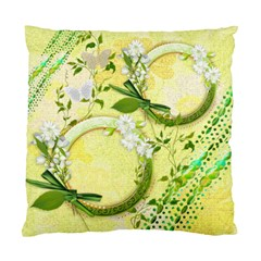 Yellow Gold Floral Double Sided Cushion Case Sample By Ellan   Standard Cushion Case (two Sides)   Olcbowgham1c   Www Artscow Com Front