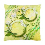 Yellow gold Floral Double Sided Cushion Case sample - Cushion Case (Two Sides)