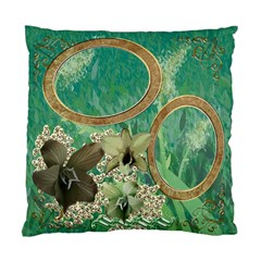 Green Aqua Floral Double Sided Cushion Case  By Ellan   Standard Cushion Case (two Sides)   Njpbg3u4n5ck   Www Artscow Com Back