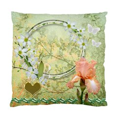Yellow Floral Double Sided Cushion Case  By Ellan   Standard Cushion Case (two Sides)   5mk88j1r8z97   Www Artscow Com Front
