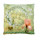yellow Floral Double Sided Cushion Case  - Standard Cushion Case (Two Sides)