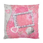 Pink Floral Double Sided Cushion Case  - Standard Cushion Case (Two Sides)