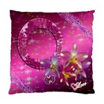 Purple Floral Double Sided Cushion Case  - Cushion Case (Two Sides)