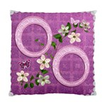 Lavander Floral Double Sided Cushion Case - Cushion Case (Two Sides)