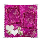 Wedding hot pink swirl Double Sided Cushion Case  - Cushion Case (Two Sides)