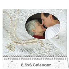 Our Wedding Or Anniversary 2018 (any Year Calendar Mini By Deborah   Wall Calendar 8 5  X 6    Dhwlcsm8714u   Www Artscow Com Cover