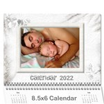 General Purpose Textured 2017 Calendar (Large Numbers) mini - Wall Calendar 8.5  x 6