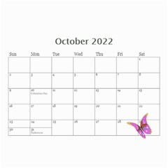 Little Butterflies 2018  (any Year) Calendar 8 5x6 By Deborah   Wall Calendar 8 5  X 6    Dlqwk4opgous   Www Artscow Com Oct 2018