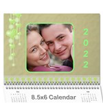 Subtle Hearts 2018  (any Year) Calendar 8.5x6 - Wall Calendar 8.5  x 6