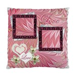 Wedding pink swirl Double Sided Cushion Case  - Cushion Case (Two Sides)
