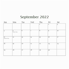 Framed In Silver 2018 (any Year) Calendar 8 5x6 By Deborah   Wall Calendar 8 5  X 6    Cxlyt2ccv7rb   Www Artscow Com Sep 2018