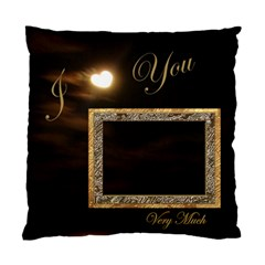 I Heart You Moon Double Sided Cushion Case By Ellan   Standard Cushion Case (two Sides)   34ntyakkw358   Www Artscow Com Back