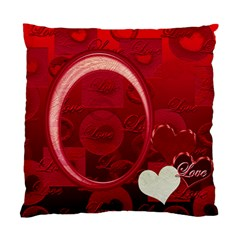 I Heart You Red Double Sided Cushion Case By Ellan   Standard Cushion Case (two Sides)   Ufe9sdq8de7o   Www Artscow Com Front