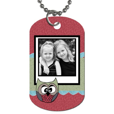 Owlie Tag By Amanda Bunn   Dog Tag (one Side)   8m6nsth84s8b   Www Artscow Com Front