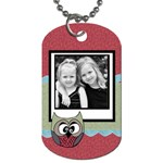 Owlie tag - Dog Tag (One Side)