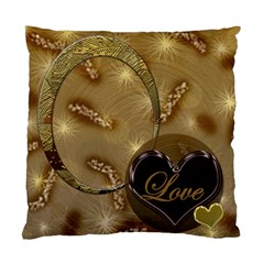 I Heart You Tan Double Sided Cushion Case By Ellan   Standard Cushion Case (two Sides)   Ls9if0jhwt9v   Www Artscow Com Front