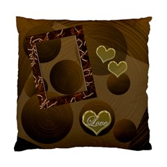 Love 19 Gold Circles Double Sided Cushion Case By Ellan   Standard Cushion Case (two Sides)   Kvkq4mn6fb2q   Www Artscow Com Front