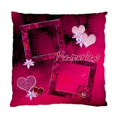 Pink Hearts N Memories Double Sided Cushion Case By Ellan   Standard Cushion Case (two Sides)   Uktqg8vmcwes   Www Artscow Com Front