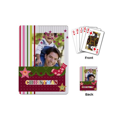 Christmas By Joely   Playing Cards (mini)   Wwji2dnptqiz   Www Artscow Com Back