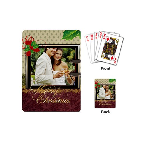 Christmas By Joely   Playing Cards (mini)   Czvy0ylke6el   Www Artscow Com Back
