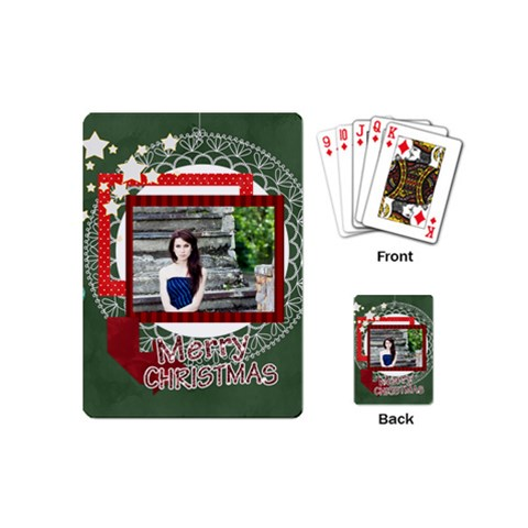 Christmas By Joely   Playing Cards (mini)   Mg8nw81hdvey   Www Artscow Com Back