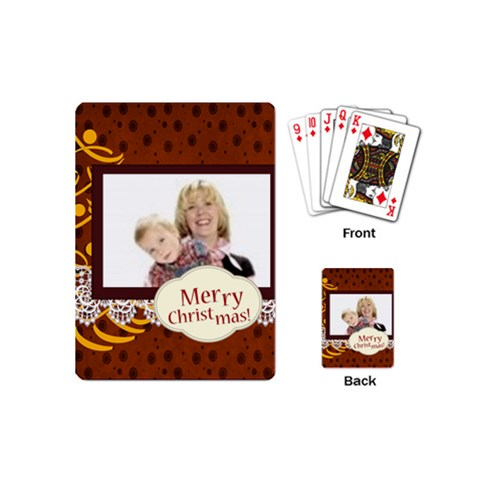 Christmas By Joely   Playing Cards (mini)   3zgqi4vth890   Www Artscow Com Back