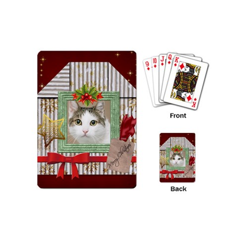 Christmas By Joely   Playing Cards (mini)   M6f73mcl6ok7   Www Artscow Com Back