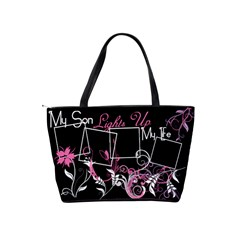 My Son Lights Up My Life Handbag By Digitalkeepsakes   Classic Shoulder Handbag   T9kq77lmgheo   Www Artscow Com Back