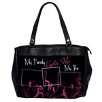 My Family Lights Up My Life Oversized Hand Bag - Oversize Office Handbag