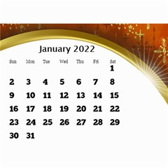 2017 Mini Calendar With Class And Large Numbers By Deborah   Wall Calendar 8 5  X 6    Ur97q45pj0ko   Www Artscow Com Jan 2017