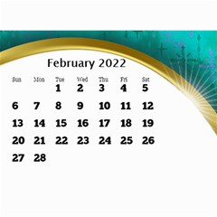 2017 Mini Calendar With Class And Large Numbers By Deborah   Wall Calendar 8 5  X 6    Ur97q45pj0ko   Www Artscow Com Feb 2017
