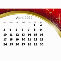 2017 Mini Calendar With Class And Large Numbers By Deborah   Wall Calendar 8 5  X 6    Ur97q45pj0ko   Www Artscow Com Apr 2017