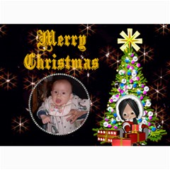 Christmas Child Christmas Card By Kim Blair   5  X 7  Photo Cards   Vttcei0pk16z   Www Artscow Com 7 x5  Photo Card - 7