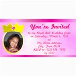 Princess Photo Invitation - 4  x 8  Photo Cards